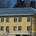 Vesikattotyö Suonenjoelle, Kutvosen kulmaan, entiseen huonekalukauppaan.
